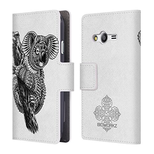 official-bioworkz-ornate-koala-wildlife-leather-book-wallet-case-cover-for-samsung-galaxy-ace-4-g313