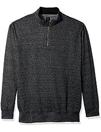 Men's Mock Neck Quarter Zip Sweater (Regular and Big and...