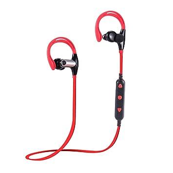 PoeHXtyy - Auriculares inalámbricos Bluetooth con micrófono HD Estéreo para Gimnasio, Correr, Deportes,