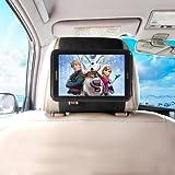 TFY Car Headrest Mount Holder for 8-Inch Samsung Galaxy Tab 3,Fast-Attach Fast-Release Edition,Black