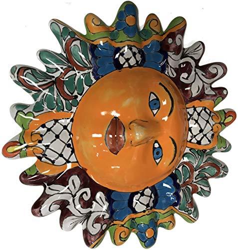 (Fine Crafts Imports Multicolor Talavera Ceramic Sun Face)