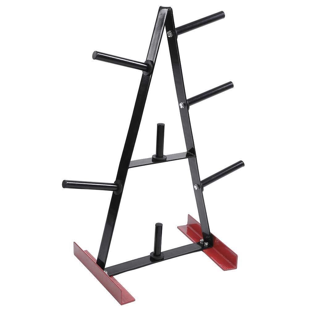 TimmyHouse Weight Plate Tree Gym Weightlifting Plates Steel Storage Rack Stand Holder Bracket Organize