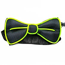 Light Up BowTie Costume Accessory LED Bow Tie Perfect for Halloween Party Christmas New Years Rave Party