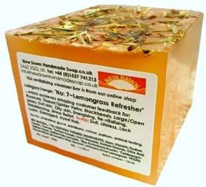 Jabón natural de citronela New Dawn - Gama 9º 7, para acné, rosácea y poros abiertos - 400 gr, formato ahorro