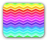 Chevron Colorful Neon Rainbow Anti-Slip Mouse Pad Mat Mice Mousepad Desktop Mouse pad laptop Mouse pad Gaming Mouse pad by INFOPOSUSA