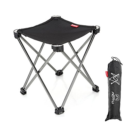 Garden Stool Finish (Tsonmall Camping Stool Portable Lightweight Folding Picnic Stools Collapsible for Fishing Hiking Traveling)