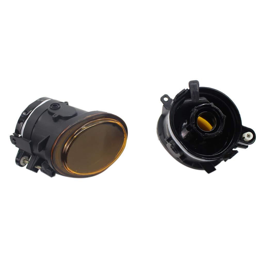 TOOGOO 01-06 F/ür E39 Gelbe Linse Paar STO?Stange Nebel Scheinwerfer Lampe Ersatz E46 F/ür