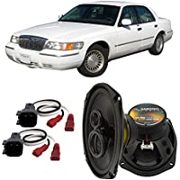 Fits Mercury Grand Marquis 1998-2002 Rear Deck Factory Replacement Harmony HA-R69 Speakers
