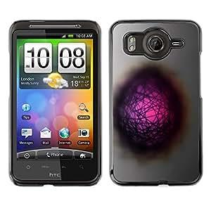 TopCaseStore / la caja del caucho duro de la cubierta de protección de la piel - Cool Abstract Hole Dimension Pink - HTC G10