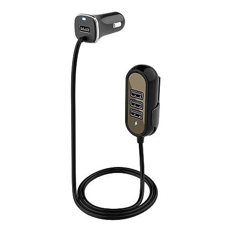 FOONEE Cargador de Coche con 4 Puertos USB para iPhone y ...