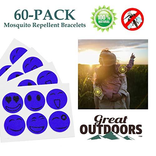 Mosquito Repellent Patches - Long Lasting Natural Essential Oil Bug Repeller Stickers - Deet-Free Insect Protection Patch - Non-toxic Insect Defender Product for Family - Safe for Kid Baby Adult (What's The Best Mosquito Repellent)