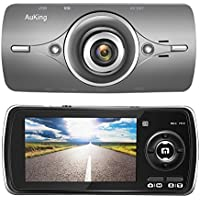 AuKing Dash Cam Full HD 1080P in Car Camera Blackbox DVR Dashboard with 2.7 LCD, Car Video Recorder, Built in G-Sensor with Automatic Loop Recording, WDR, Motion Detection, Parking Monitoring