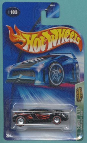 Hot Wheels 2004 Treasure Hunt Black & Red Cadillac Cien 3/12 #103 Limited Edition 1:64 Scale Collectible Die Cast Car
