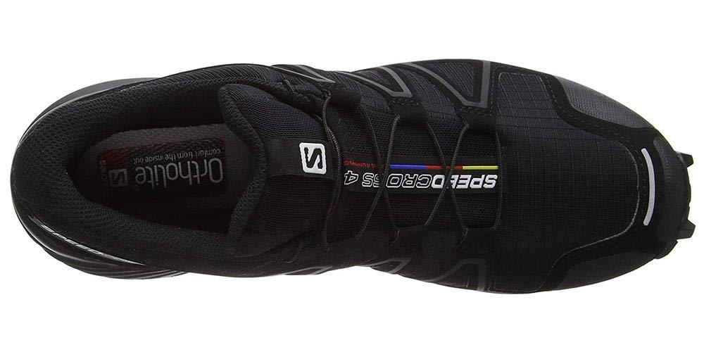 Salomon Men's Speedcross 4 Trail Runner, Black A1U8, 7 M US by Salomon (Image #10)