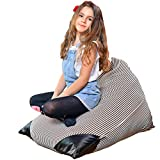 Bean Bags Stuffed Animal Storage Chair   Giant Extra Large Stuffable Toy Organizers Covers Filler Big Pillowfort XL 38 48 27'' Kids Plush Stuff inches 50 100 200 (27'' / 26 Gal / 100L) (Bean Bag)