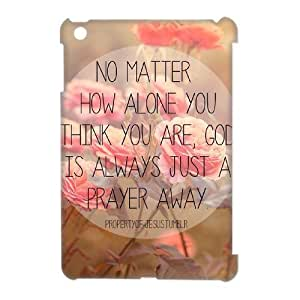 wugdiy DIY Protective Snap-on Hard Back 3D Case Cover for iPad Mini with christian bible verses