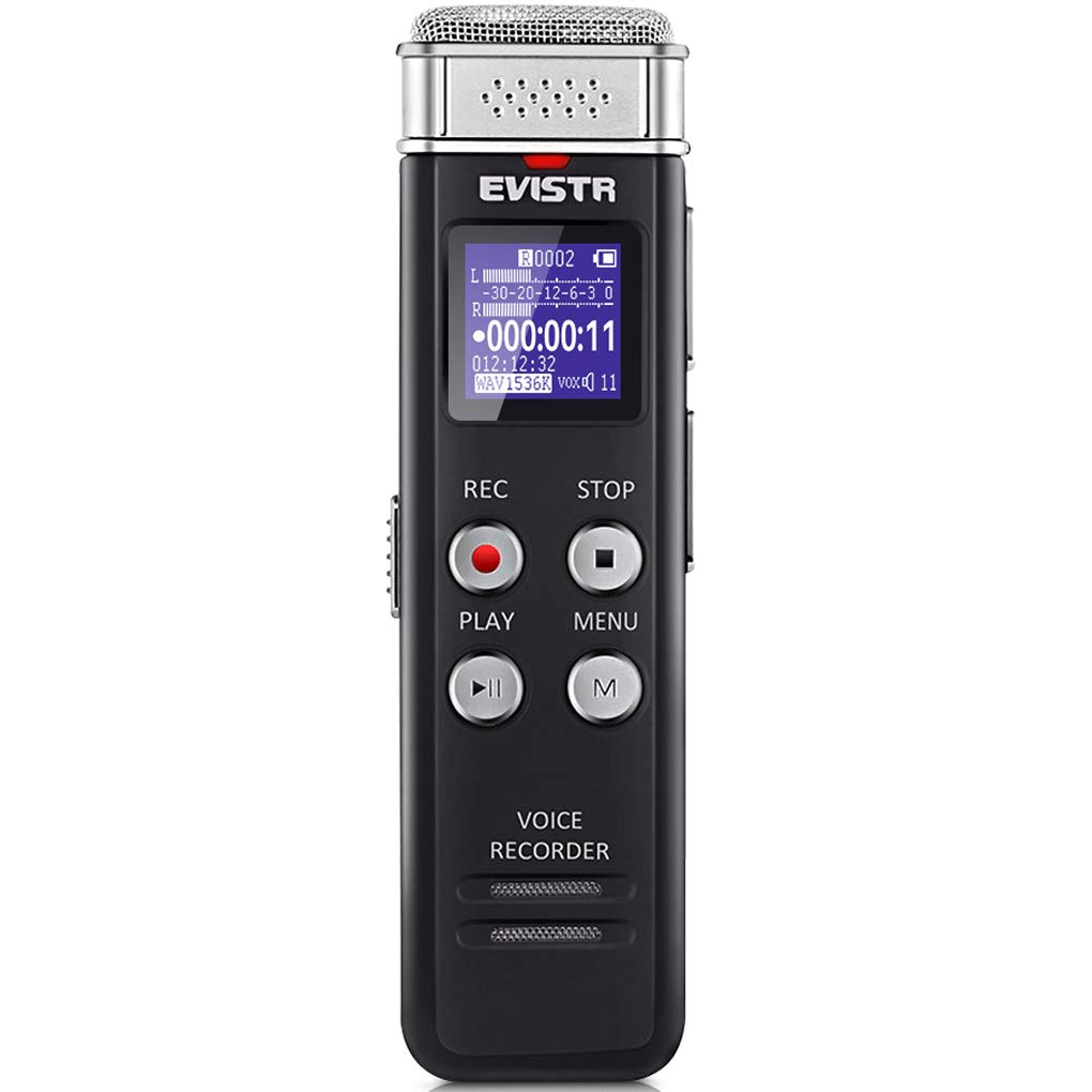 ویکالا · خرید  اصل اورجینال · خرید از آمازون · EVISTR 16GB Digital Voice Recorder Voice Activated Recorder with Playback - Upgraded Small Tape Recorder for Lectures, Meetings, Interviews, Mini Audio Recorder USB Charge, MP3 wekala · ویکالا