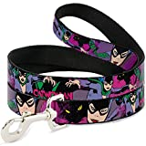 Buckle Down Dog Leash - Catwoman Poses w Cat
