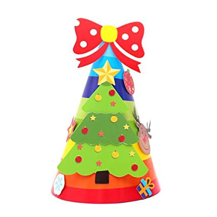 stheanoo christmas decorations cartoon children christmas hat cardboard children hat toy home xmas tree ornament decor - Cardboard Christmas Decorations