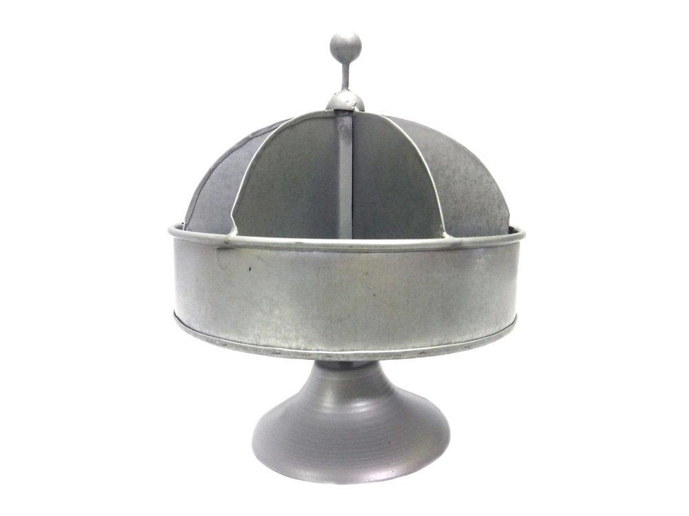 Colonial Tin Works Small Galvanized Metal Rotating Hardware Bin