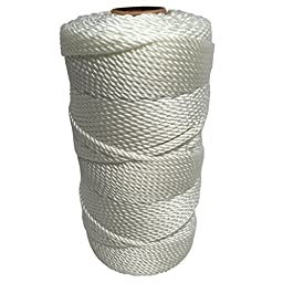 SGT KNOTS Twisted Nylon Seine Twine - #6, #7, #9, #12, #15, #18, #21, #24, #30, #36, #42, #48, #60, #72, #96, #120 (1 Pound - #42 - 485 feet)