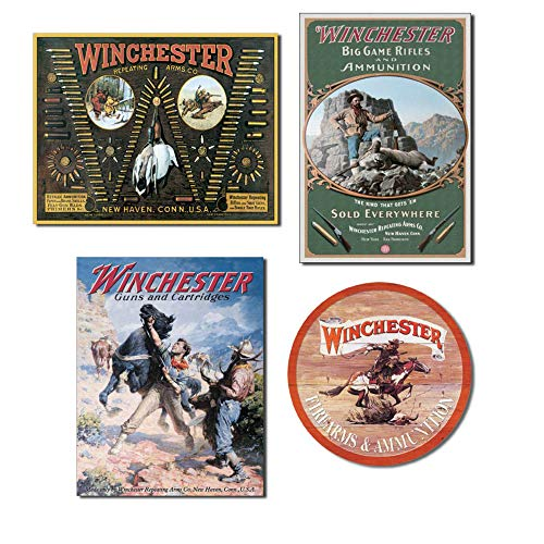 - Bundle: Winchester Signs - Winchester Bullet Board, Winchester Hunter with Ram, Winchester Spooked Horse and Winchester Express Round