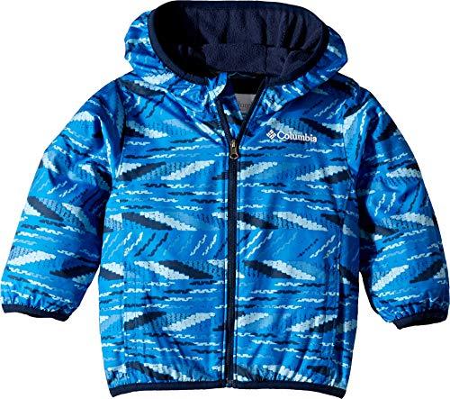 Mini Toddler Columbia - Columbia Kids Baby Boy's Mini Pixel Grabber¿ II Wind Jacket (Infant/Toddler) Super Blue Beach Stripe 3T