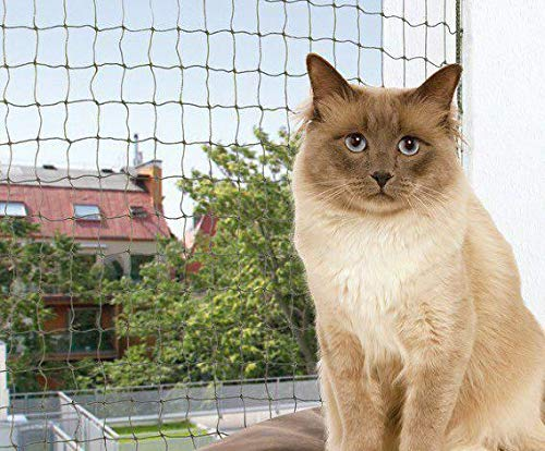 Protección de Red Para Gatos, Alambre Tejido, Oliva 6x3m, a Través ...