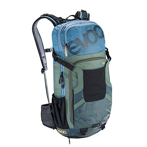 Evoc FR Enduro Team Protector Hydration Pack Copen Blue/Olive/Slate, M/L by Evoc