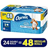 Charmin Ultra Soft Toilet Paper, 24 Double Rolls (Equal to 48 Regular Rolls)