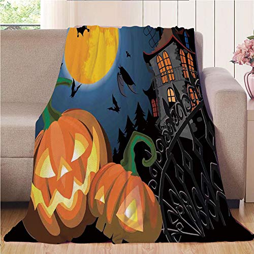 Blanket Comfort Warmth Soft Cozy Air Conditioning Fleece Blanket Perfect for Couch Sofa Or Bed,Halloween Decorations,Gothic Halloween Haunted House Party Theme Decor Trick or Treat for -