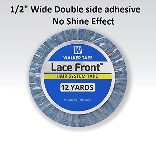 Walker 12 Yards Lace Front Support Tape (1/2 inch) For Toupee and Wig, Clear -