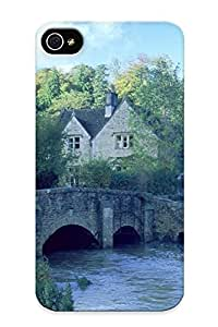Awesome Case Cover/iphone 4/4s Defender Case Cover(architecture Bridges Towns Villages ) Gift For Christmas