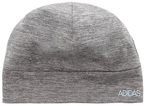 adidas Men's Heather Tech Beanie, Grey/Clear Onix/Frozen Blue, One Size