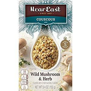 Near East Wild Mushrooms & Herb Couscous Mix,5.4 Ounce (Pack of 12 Boxes)