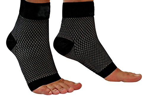 Compression Foot Sleeves, Plantar Fasciitis Compression sleeves - Better than Night Splint Socks, Shoe, Insoles, Inserts & Orthotic for Foot, Ankle Pain Relief for men, women by poomoon
