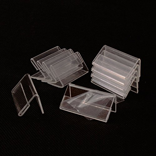 Airgoesin 50pcs Mini Sign Display Holder Price Card Tag Label Counter Top Stand 4cm x ()