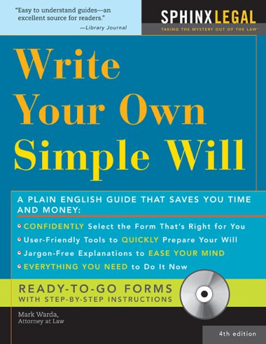 Make Your Own Simple Will (How to Make Your Own Simple Will)