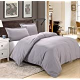 Colourful Snail 3-piece Luxury Duvet Cover Set, Includes Duvet Cover and 2 Matching Pillow Shams, Ultra Soft and Easy Care, Wrinkle & Fade Resistant, Queen/Full, Grey