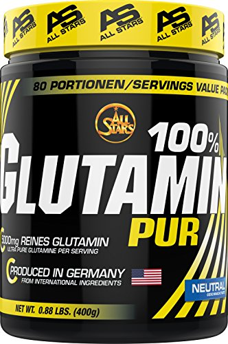 All Stars 100% Glutamin Pur, 1er Pack (1 x 400 g)