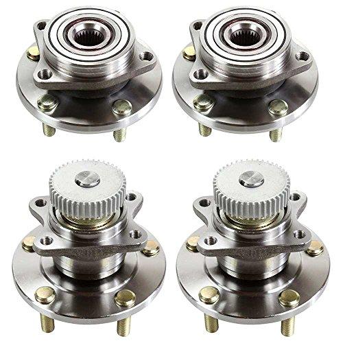 Prime Choice Auto Parts HB159-138 2 Front and 2 Rear Wheel Hub Bearing Assembly Units - Mitsubishi Wheel Hub Assembly
