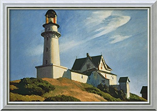 Framed Canvas Wall Art Print | Home Wall Decor Canvas Art | Lighthouse at Two Lights, 1929 by Edward Hopper | Modern Decor | Stretched Canvas Prints