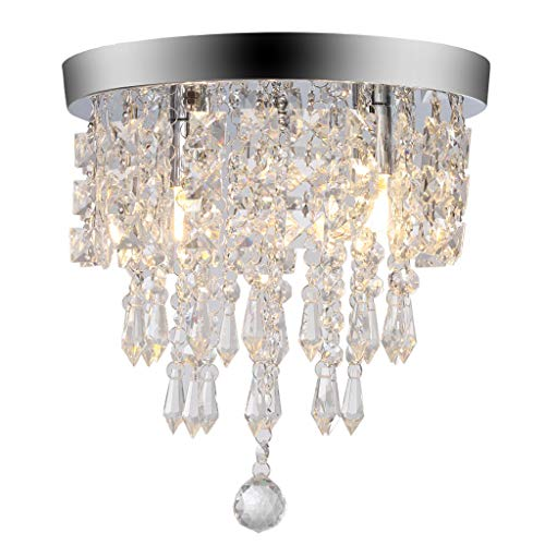 DDKK 2019 Hot! Chandelier Crystal Chandelier Lighting 2 Lights Flush Mount Ceiling Light G9 Ship from USA Directly