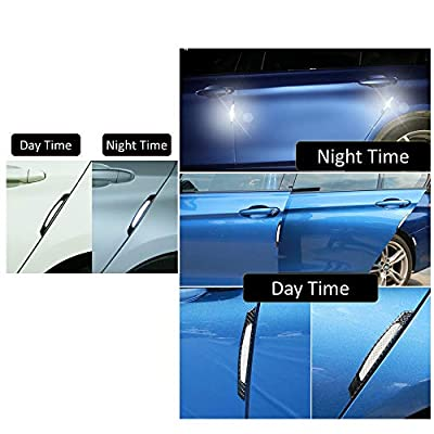 COSMOSS Reflective Car Door Edge Trim Sticker (Gray): Automotive
