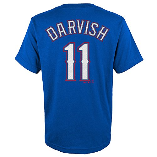 Yu Darvish #11 Texas Rangers Youth Name & Number Player T-Shirt Blue (Large 14/16) Texas Rangers Player
