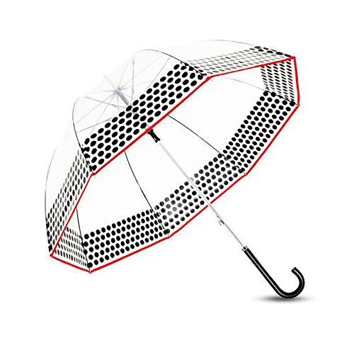 LXY Transparent Umbrella Bird Cage Umbrella Men And Women Long Handle Windproof Semi-automatic Umbrella umbrella (Color : B)