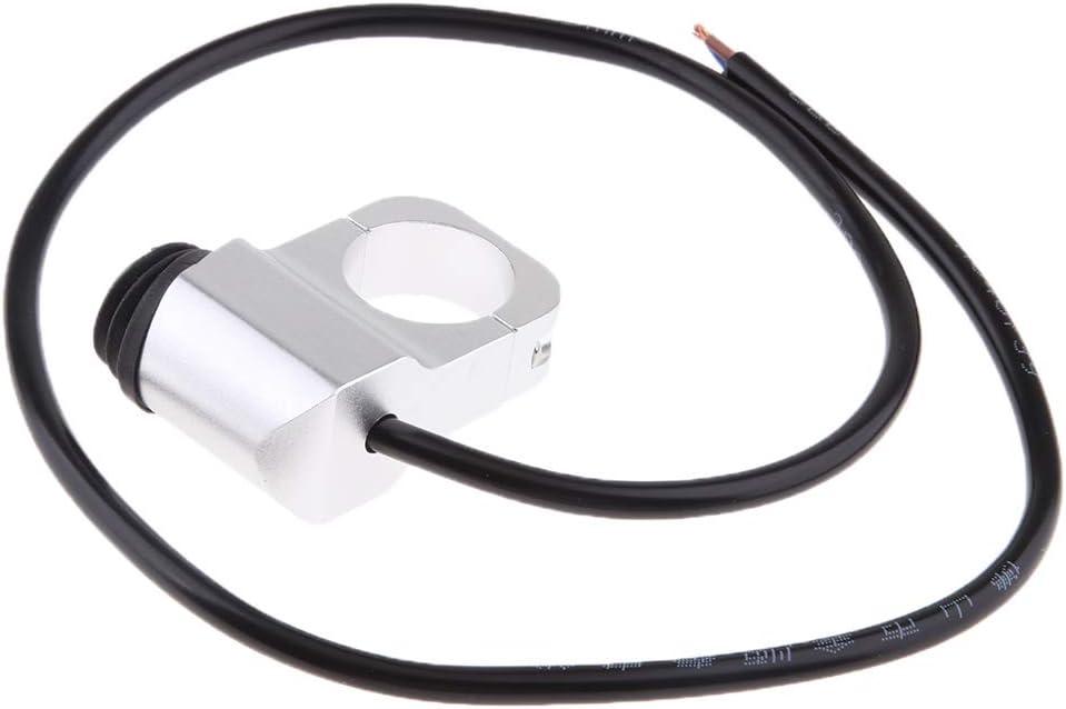 Schwarz perfk Lenker-Scheinwerferschalter Scheinwerfer-EIN//Aus-Schalter Passend f/ür 1 25mm Lenker Aller Motorr/äder