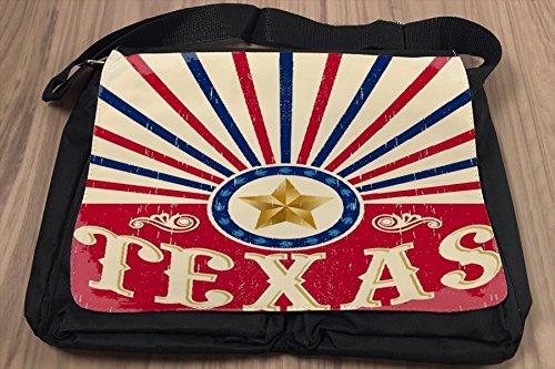 Borsa Tracolla Tour Mondiale Stella di Texas Stampato