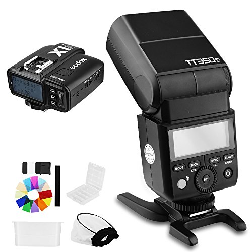 Godox TT350F 2.4G HSS TTL GN36 Flash Speedlite+ X1T-F Trigger Transmitter Kit for Fuji X-Pro2/X-T20/X-T1/X-T2 by Godox