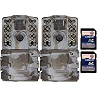 Moultrie A-35 14MP 60 Video LowGlow IR Game Trail Camera + 8GB SD Card (2 Each)